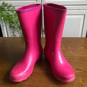 Liv & Maddie Pink Girls Rainboots - Size 3